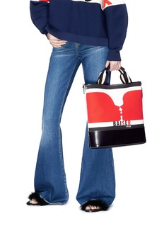 Sonia Rykiel 'Baiser' graphic print canvas leather tote