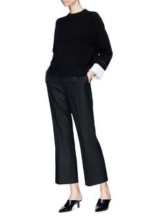 Proenza Schouler Contrast cuff sweater