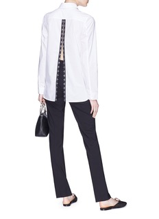 Proenza Schouler Hook-and-eye back poplin shirt