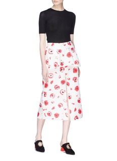 Proenza Schouler Floral print layered jacquard skirt