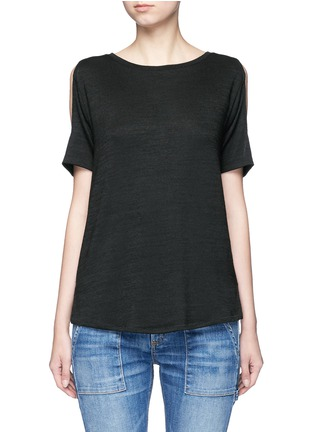 Main View - Click To Enlarge - rag & bone/JEAN - 'Showoff' cutout shoulder T-shirt