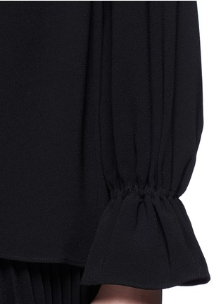 Detail View - Click To Enlarge - Co - Gathered crepe blouse