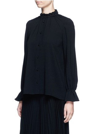 Front View - Click To Enlarge - Co - Gathered crepe blouse