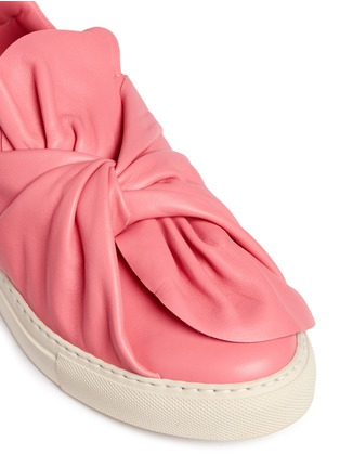 Detail View - Click To Enlarge - Ports 1961 - Twist bow leather sneakers