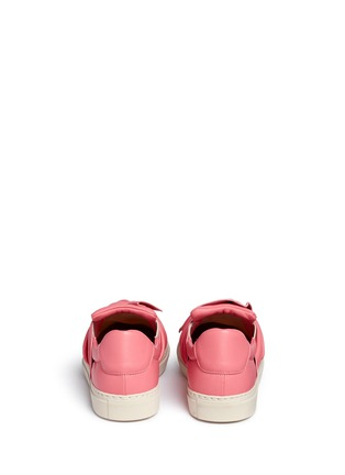 Back View - Click To Enlarge - Ports 1961 - Twist bow leather sneakers