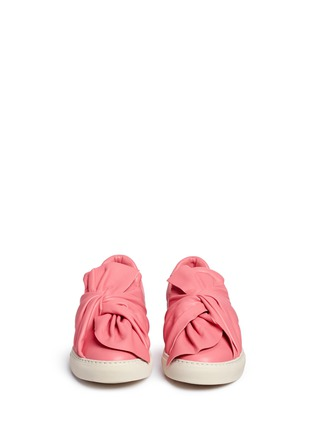 Front View - Click To Enlarge - Ports 1961 - Twist bow leather sneakers