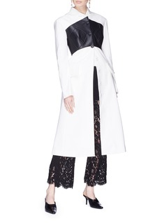Proenza Schouler Faux leather bustier panel coat