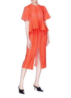 Proenza Schouler Split hem ottoman stitch knit pencil skirt