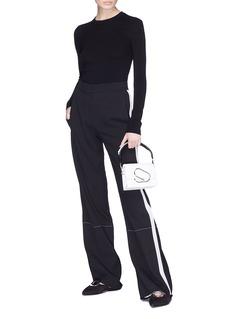 Proenza Schouler Stripe outseam wide leg suiting pants