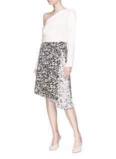 Proenza Schouler Pleated panel floral print crepe de Chine skirt