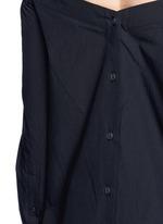'Kacy' off-shoulder cotton poplin dress