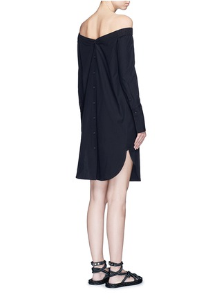 Back View - Click To Enlarge - rag & bone - 'Kacy' off-shoulder cotton poplin dress