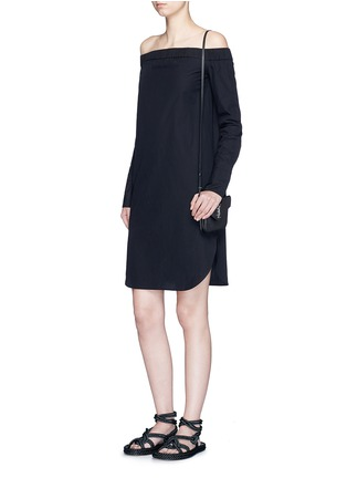Figure View - Click To Enlarge - rag & bone - 'Kacy' off-shoulder cotton poplin dress