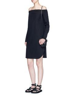 rag & bone'Kacy' off-shoulder cotton poplin dress