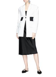 Proenza Schouler Single breasted cutout waist blazer