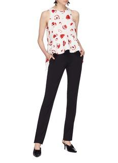 Proenza Schouler Floral print jacquard sleeveless peplum top