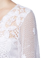 'Lucinda' scalloped lace maxi dress