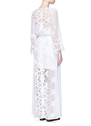 Back View - Click To Enlarge - Miguelina - 'Lucinda' scalloped lace maxi dress