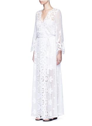 Miguelina-'Lucinda' scalloped lace maxi dress