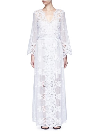 Main View - Click To Enlarge - Miguelina - 'Lucinda' scalloped lace maxi dress