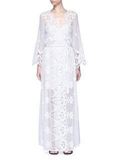 Miguelina'Lucinda' scalloped lace maxi dress