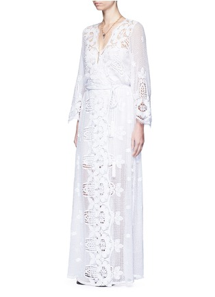 Figure View - Click To Enlarge - Miguelina - 'Lucinda' scalloped lace maxi dress