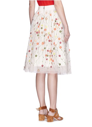 Back View - Click To Enlarge - alice + olivia - 'Catrina' floral embellished tulle skirt