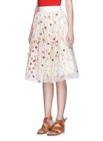 'Catrina' floral embellished tulle skirt