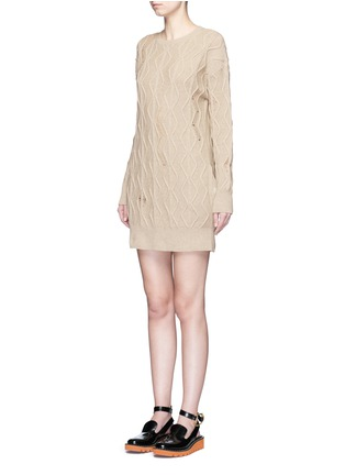 Front View - Click To Enlarge - Stella McCartney - Squiggly cashmere-wool knit dress