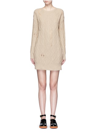 Main View - Click To Enlarge - Stella McCartney - Squiggly cashmere-wool knit dress