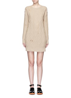 Stella McCartney Squiggly cashmere-wool knit dress