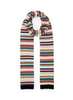 Stripe mohair-cashmere blend scarf