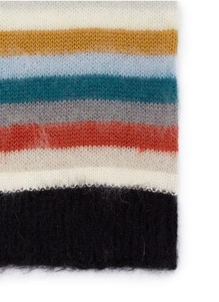 细节 - 点击放大 - CHLOÉ - 彩色条纹混马海毛及羊毛围巾