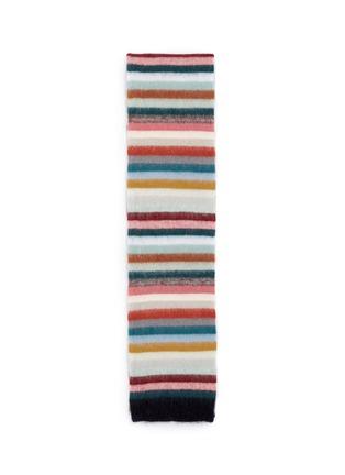 首图 - 点击放大 - CHLOÉ - 彩色条纹混马海毛及羊毛围巾