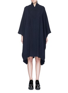 Stella McCartney Wool-cashmere knit cape
