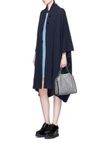 Wool-cashmere knit cape