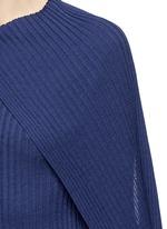 'Inga' drape neck rib knit wrap top