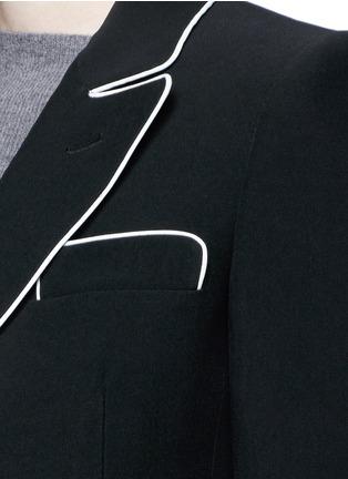 细节 - 点击放大 - ALEXANDER MCQUEEN - 撞色镶边西服外套