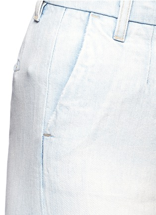 Detail View - Click To Enlarge - Current/Elliott - 'The Cropped Neat' cotton-linen flared denim pants