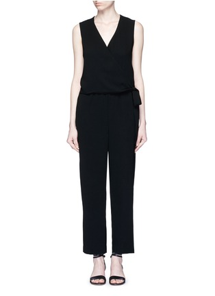 Main View - Click To Enlarge - Theory - 'Alvmie' wrap front crepe jumpsuit