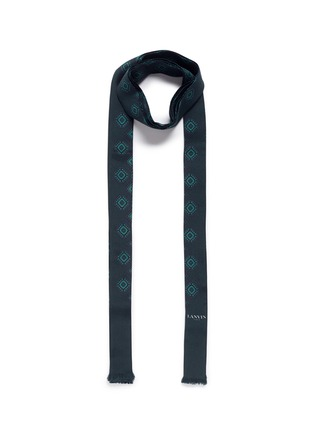 Main View - Click To Enlarge - Lanvin - Foulard print tie neck silk scarf
