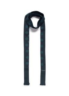 LanvinFoulard print tie neck silk scarf