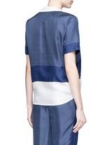 'Keira Tie Front' foulard dot print silk shirt