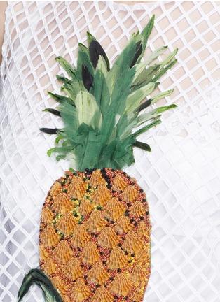 Dolce & Gabbana-Pineapple embellished lattice embroidery dress