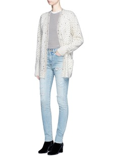 Saint LaurentDistressed skinny jeans