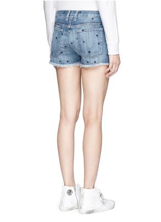 Back View - Click To Enlarge - Current/Elliott - 'The Boyfriend' star print cutoff denim shorts