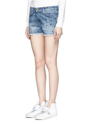 Front View - Click To Enlarge - Current/Elliott - 'The Boyfriend' star print cutoff denim shorts