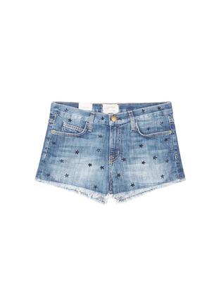 Main View - Click To Enlarge - Current/Elliott - 'The Boyfriend' star print cutoff denim shorts
