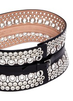 Mix eyelet leather corset belt