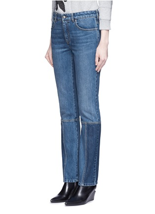 Front View - Click To Enlarge - Alexander McQueen - Patchwork jeans